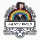 Galactic Pixels shirt by Poppy Smith
