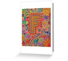 Initial F Greeting Card