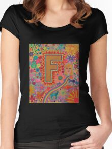 Initial F Women's Fitted Scoop T-Shirt