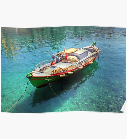Little fishing boat from Crete  Poster