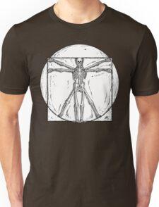 Vitruvian Skeleton Unisex T-Shirt