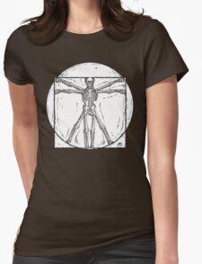 Vitruvian Skeleton Womens Fitted T-Shirt