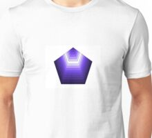 Purple pentagon Unisex T-Shirt