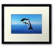 Tribal Sea Life - Dolphin Framed Print