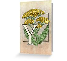 Y is for Yarrow card Greeting Card