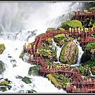 Stairway at the Falls by Mikell Herrick