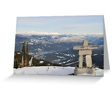 Whistler, Blackcomb Mountain, British Columbia, Ilanaaq Greeting Card
