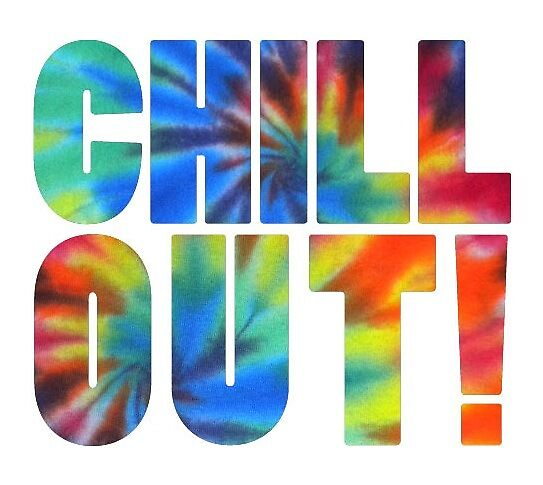 Chill Out! Tie-Dye Hippie Print by sarajess