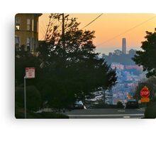 Coit Tower Sunrise Canvas Print