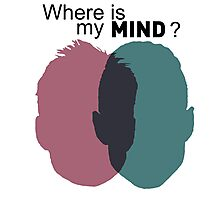 Where is my mind ? - Mr Robot Photographic Print