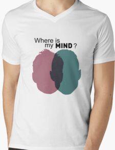 Where is my mind ? - Mr Robot Mens V-Neck T-Shirt