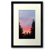 Sunset in the Suburbs  Framed Print