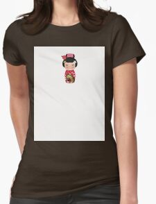 Japanese Doll 3 Womens Fitted T-Shirt