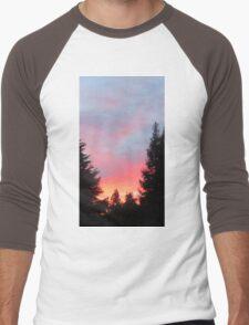 Sunset in the Suburbs  Men's Baseball ¾ T-Shirt