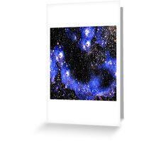 Stars in a Blue Night Sky Greeting Card