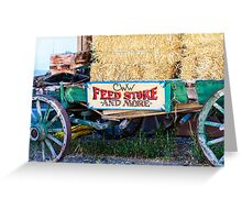 Old Wagon with Straw Greeting Card