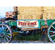 Old Wagon with Straw Photographic Print