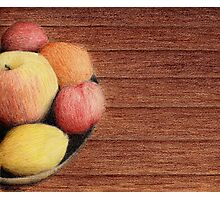 Bowl of Fruit Photographic Print