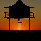 SUNSET-LIFESAVERS LOOKOUT- semaphore by JAMES LEVETT