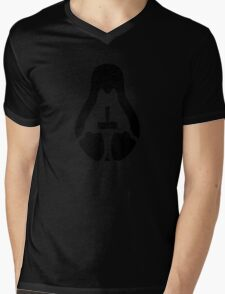 /r/linux_gaming Stycil Tux Shirt (black) Mens V-Neck T-Shirt