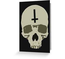 Inverted Cross Skull Greeting Card
