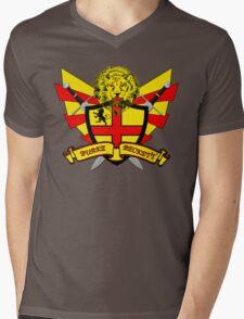 Burke Beckett Coat of Arms Mens V-Neck T-Shirt