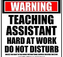 Warning Teaching Assistant Hard At Work Do Not Disturb by cmmei
