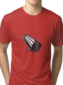 Fuel Tanker Truck Retro Tri-blend T-Shirt