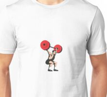Weightlifter Lifting Weights Retro Unisex T-Shirt