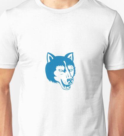 Wolf Wild Dog Head Retro Unisex T-Shirt