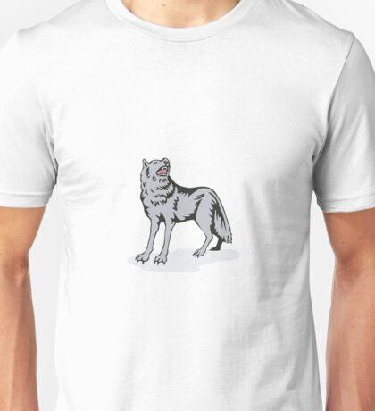 Wolf Wild Dog Howling Unisex T-Shirt