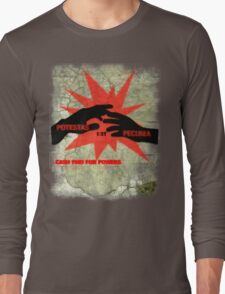 cash paid for powers - potestas est pecunia  Long Sleeve T-Shirt