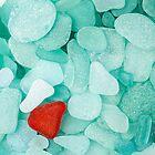 Sea glass background by Cebas