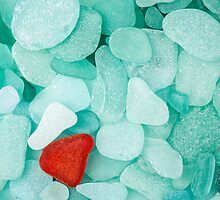 Sea glass background by Cebas