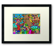 Rabbits on Vacation Framed Print