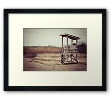 A Desolate Winter Beach Framed Print