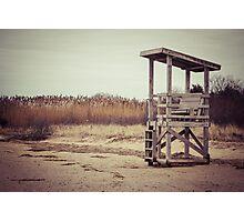 A Desolate Winter Beach Photographic Print