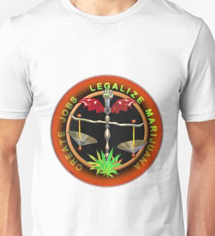 Create Jobs Legalize Marijuana Unisex T-Shirt