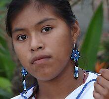 Young And Proud Indian Lady - Jovencita Indigena Orgullosa by Bernhard Matejka