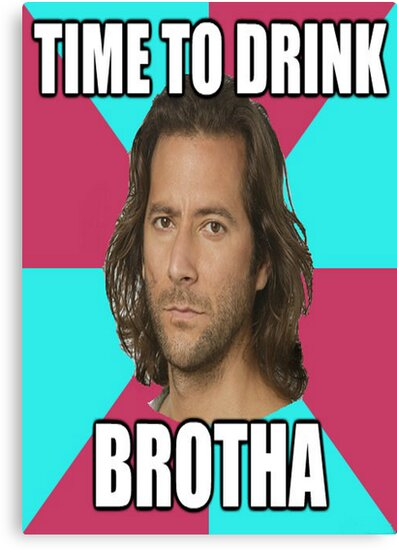 """Desmond Hume """"Time To Drink BROTHA"""" (LOST Poster) by DABC"""