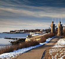 Cliff Walk in Newport Rhode Island by Roupen  Baker