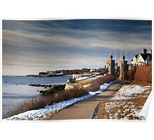 Cliff Walk in Newport Rhode Island Poster