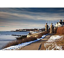 Cliff Walk in Newport Rhode Island Photographic Print