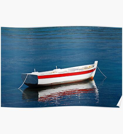 Small Boat in Greece Poster