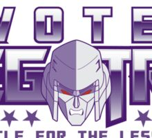 Vote Megatron! Sticker