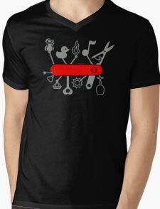 Swiss Army Knife for Lovers Mens V-Neck T-Shirt