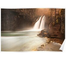 Plitvice waterfall Poster