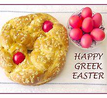 Happy Greek Easter With Tsoureki by daphsam