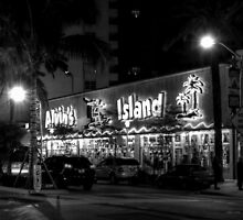 Corner of Collins Avenue and Lincoln Road on Miami Beach in Florida by 242Digital