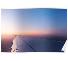 Sunrise from a plane horizontal Poster